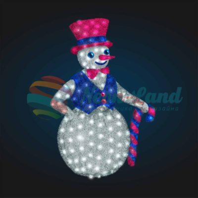 Светодиодный Снеговик Джентельмен 2