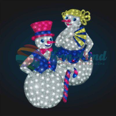 Светодиодные снеговики Пара 2