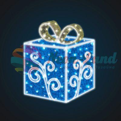 Световая композиция Новогодний Подарок с Узором 100 см