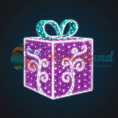 Световая композиция Новогодний Подарок с Узором 150 см