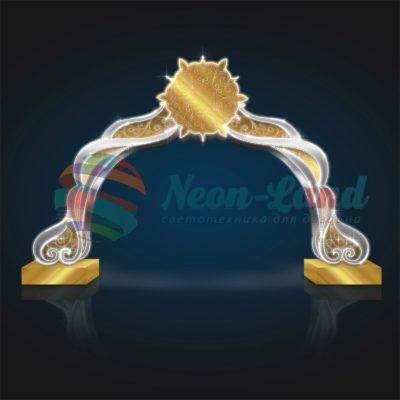 Новогодняя арка Серебро-Золото
