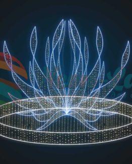 Световой новогодний фонтан Огниво
