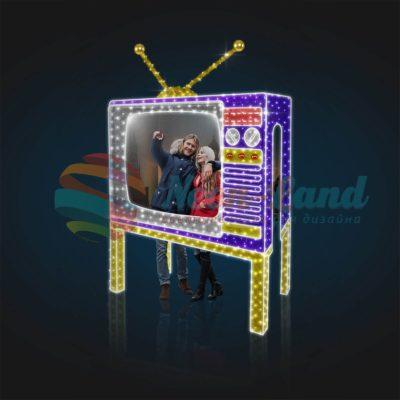 Световая фотозона Телевизор