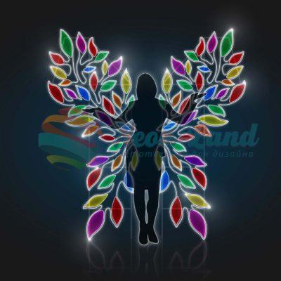 Фотозона Разноцветные крылья