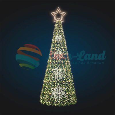 Новогодняя конус-елка 7 метров