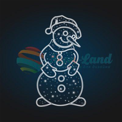 Панно светящееся Снеговик