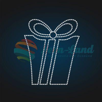 Панно световое новогоднее Подарок