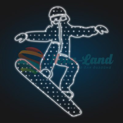 Панно сноубордист