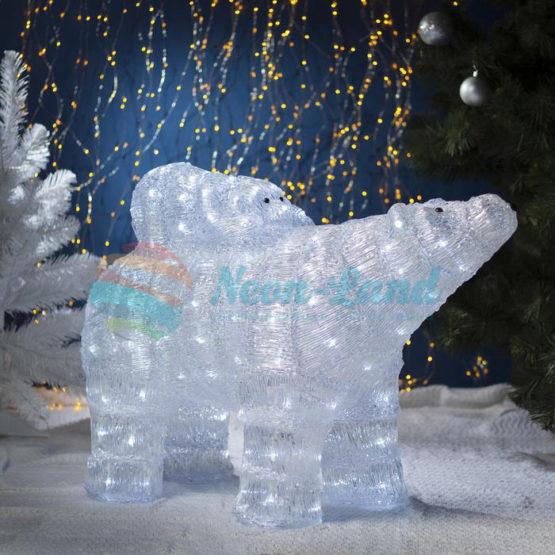 "Фигура акрил. ""Медведь с медвежонком"" 80х30х60 см"