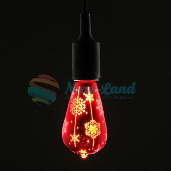 Лампа светодиодная декоративная «Снежинки»